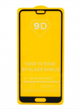 Защитное стекло Huawei P20 Pro (черный) 9D тех.упаковка