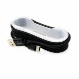 Кабель USB- TypeC Lace (черный) 1,5м