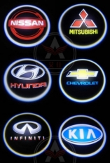 подсветка дверей 3d с логотипом